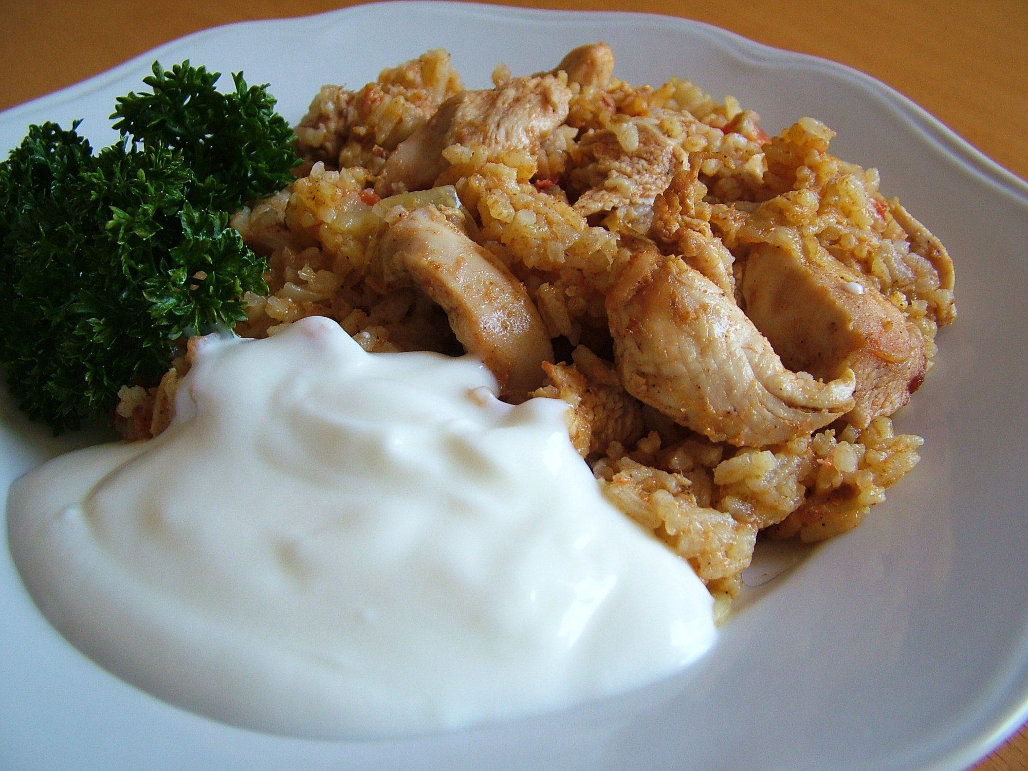 Garam masala s ryžou basmati a jogurtom