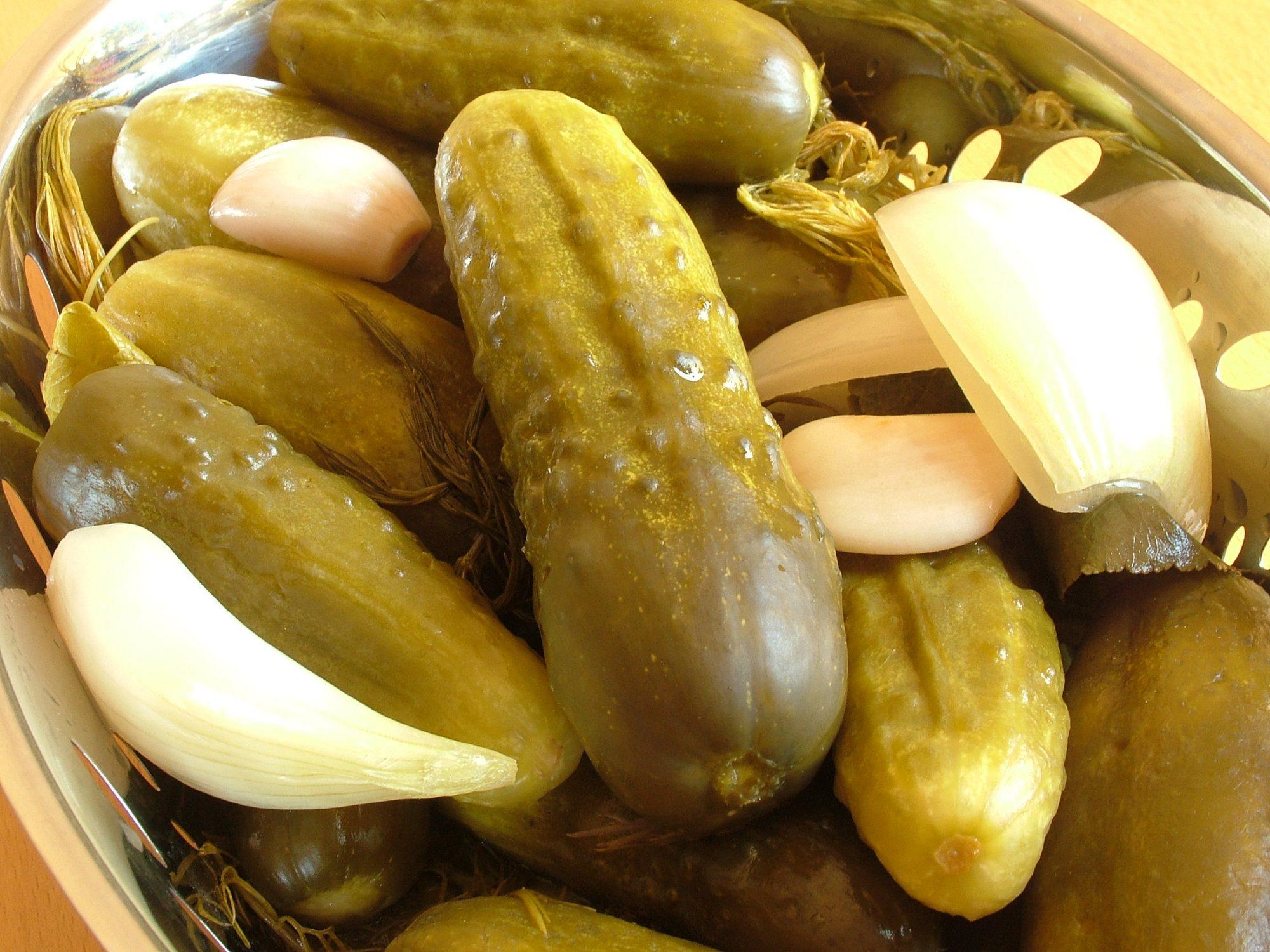 Sterilizované kvasáky - kvasené uhorky