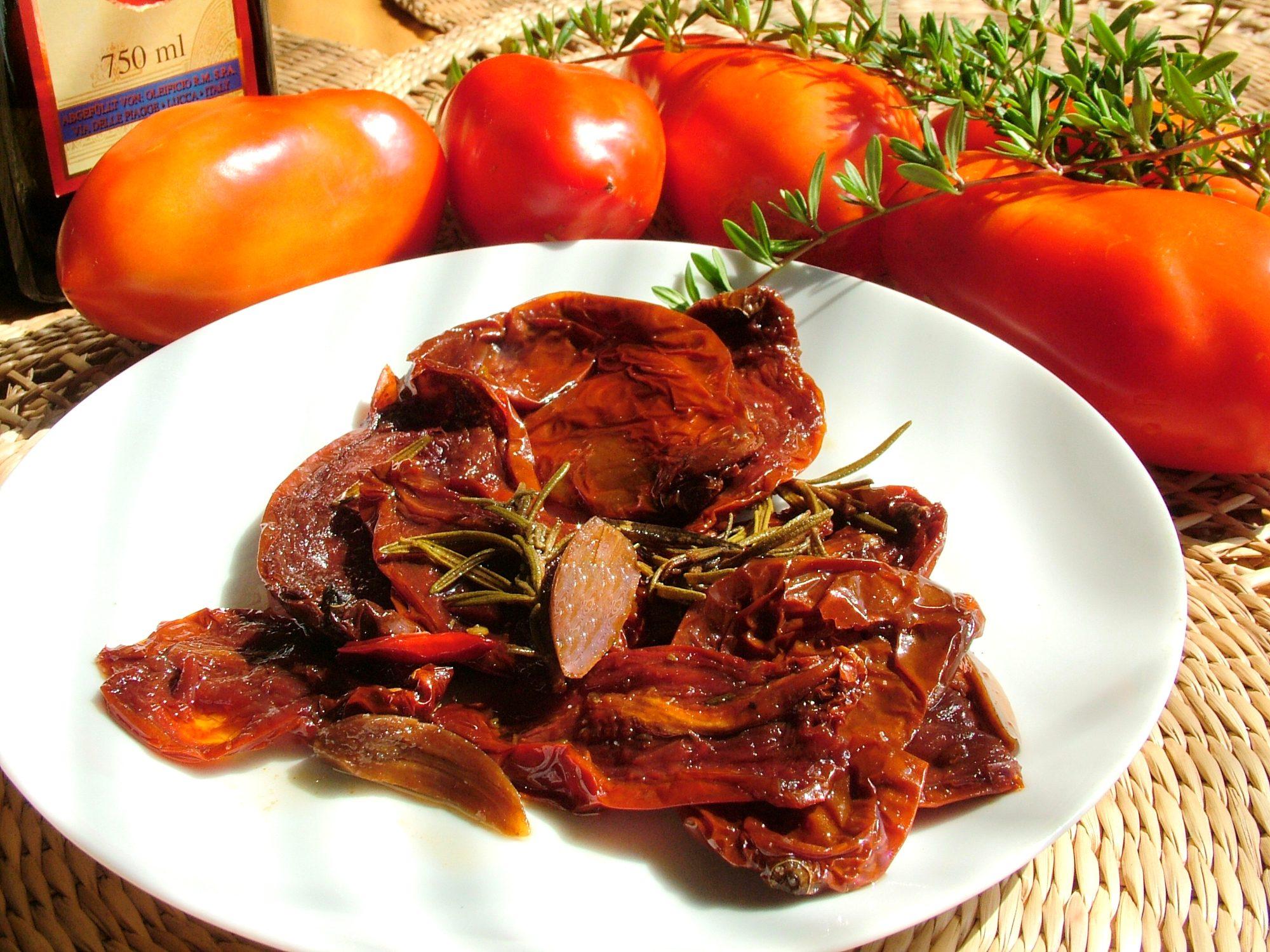 Sušené paradajky v olivovom oleji