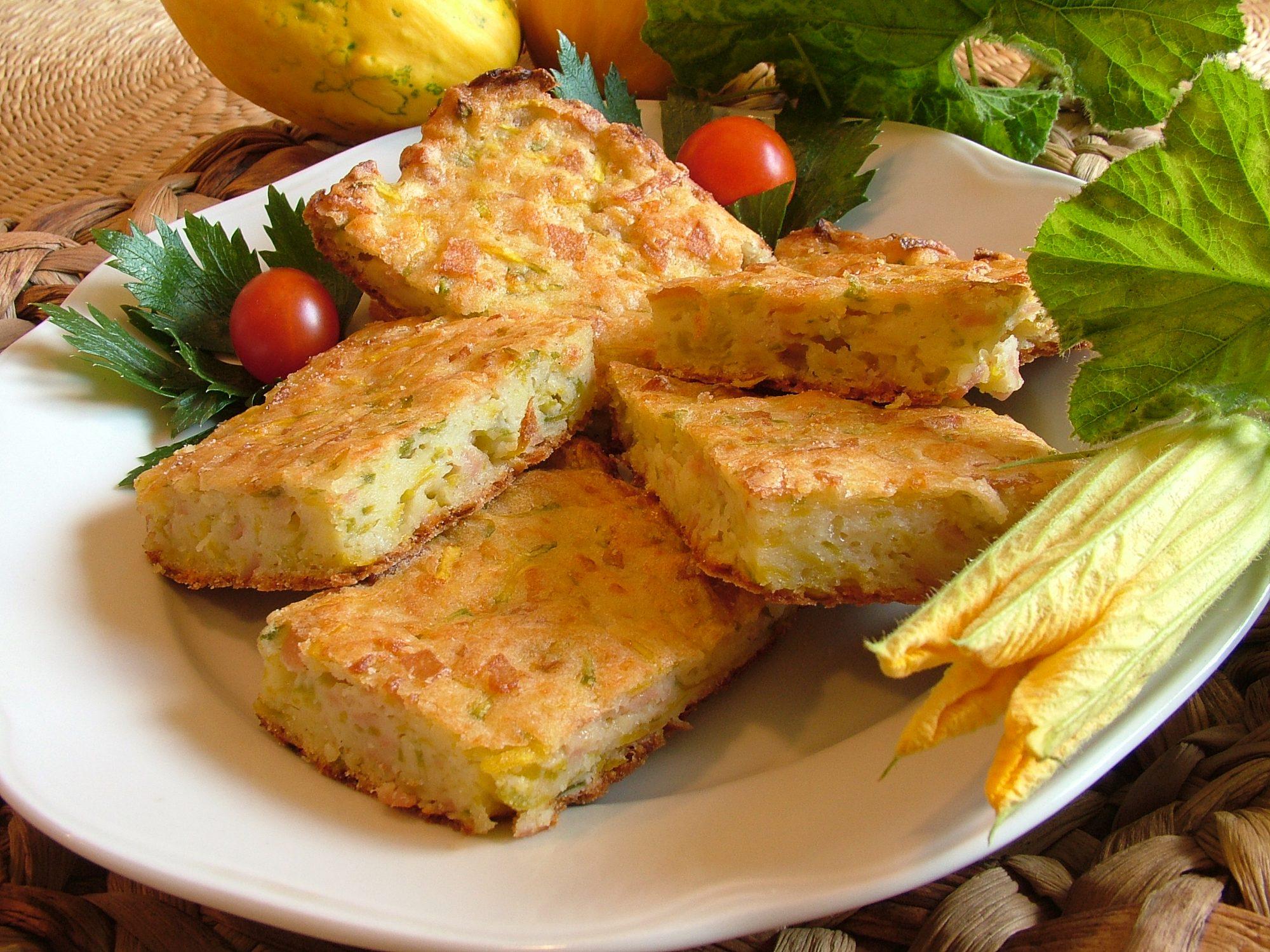 Cuketový osúch so syrom a salámou