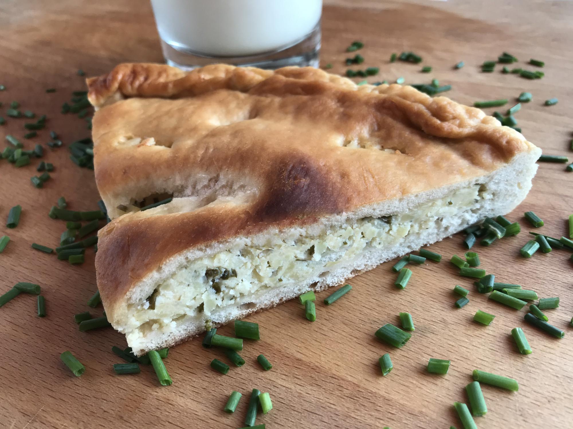 Grulpelč - bryndzovo-zemiakový koláč s pažítkou